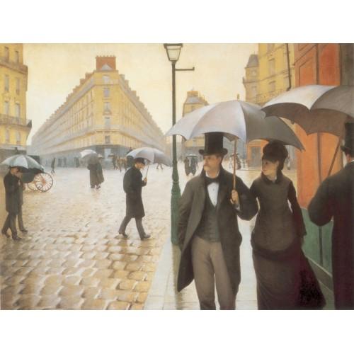 Yağmurlu bir Günde Paris Caddesi